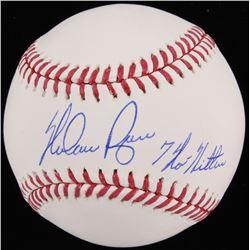 "Nolan Ryan Signed OML Baseball Inscribed ""7 No Hitters"" (Beckett COA  Ryan Hologram)"