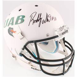 Roddy White Signed UAB Blazers Full-Size Helmet (JSA COA)