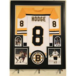 Ken Hodge Signed 34x42 Custom Framed Jersey Display (Leaf COA)