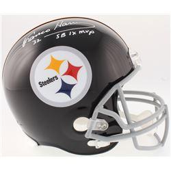 "Franco Harris Signed Steelers Full-Size Throwback Helmet Inscribed ""SB IX MVP"" (JSA COA)"