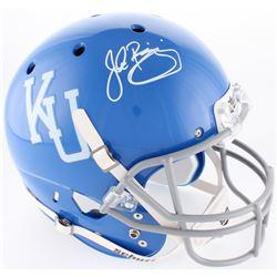 John Riggins Signed Kansas Jayhawks Full-Size Throwback Helmet (JSA COA)