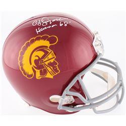 "O.J. Simpson Signed USC Trojans Full-Size Helmet Inscribed ""Heisman '68"" (JSA COA)"