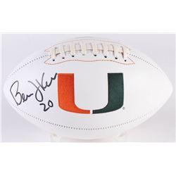 Bernie Kosar Signed Miami Hurricanes Logo Football (Radtke COA)