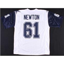 """Nate Newton Signed Jersey Inscribed """"SB XXVII, XXVIII, XXX Champs"""" (JSA  Radtke COA)"""