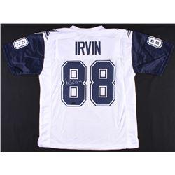 "Michael ""Playmaker"" Irvin Signed Jersey (Radtke COA)"