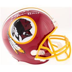 "Joe Theismann Signed Redskins Full-Size Helmet Inscribed ""83 MVP"" (JSA COA)"