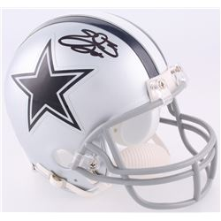 Emmitt Smith Signed Cowboys Mini Helmet (Beckett COA)