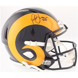 Marshall Faulk Signed Rams Full-Size Throwback Speed Helmet (JSA COA)