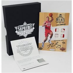 Ben Simmons Signed LE 2016-17 Upper Deck Supreme Hardcourt NBA Relics Floor With (4) Jersey Swatches