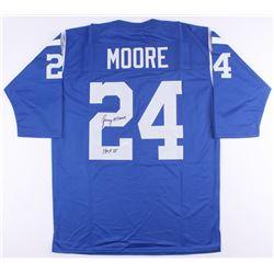 """Lenny Moore Signed Colts Jersey Inscribed """"HOF 75"""" (JSA Hologram)"""