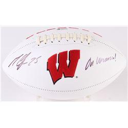 "Melvin Gordon Signed Wisconsin Badgers Logo Football Inscribed ""On Wisconsin"" (Radtke COA)"