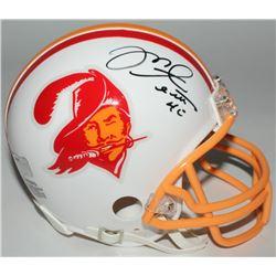 Mike Alstott Signed Buccaneers Throwback Mini-Helmet (Radtke COA)