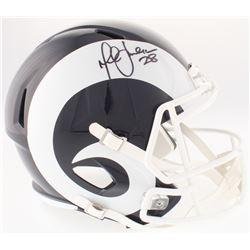 Marshall Faulk Signed Rams Full-Size Speed Helmet (JSA COA)