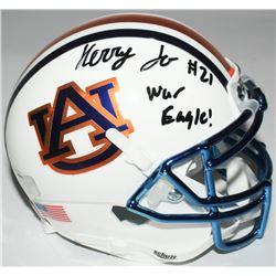 "Kerryon Johnson Signed Auburn Tigers Custom Chrome Mini-Helmet Inscribed ""War Eagle!"" (Radtke COA)"