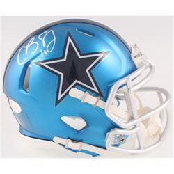 Cole Beasley Signed Cowboys Mini Blaze Speed Helmet (JSA COA  Fanatics Hologram)