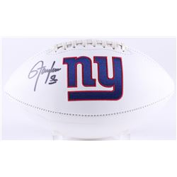 Lawrence Taylor Signed Giants Logo Football (Radtke COA)