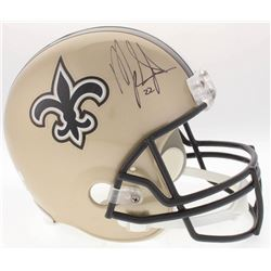 Mark Ingram Signed Saints Full-Size Helmet (Radtke COA  Ingram Hologram)