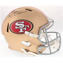 "Ronnie Lott Signed 49ers Full-Size Speed Helmet Inscribed ""Hitman!"" (Radtke COA)"