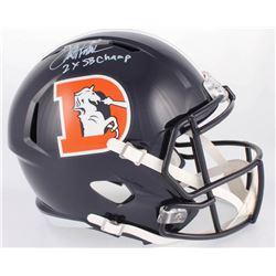 "Terrell Davis Signed Broncos Full-Size Speed Color Rush Helmet Inscribed ""2X SB Champ"" (Radtke COA)"
