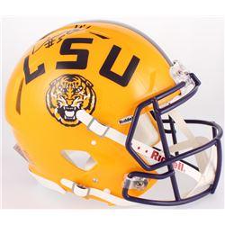 Derrius Guice Signed LSU Tigers Full-Size On-Field Speed Helmet (Radtke COA)
