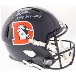 "Terrell Davis Signed Broncos Full-Size Speed Color Rush Helmet Inscribed ""1998 NFL MVP"" (Radtke COA)"