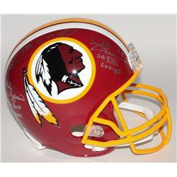 Joe Theismann, Mark Rypien  Doug Williams Signed Redskins Full-Size Helmet with (3) Super Bowl Inscr