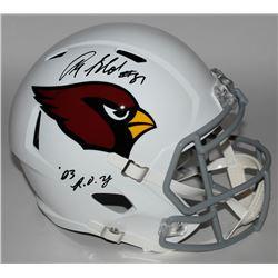 "Anquan Boldin Signed Cardinals Full-Size Speed Helmet Inscribed ""03 R.O.Y"" (JSA COA)"