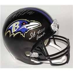 "Anquan Boldin Signed Ravens Full-Size Helmet Inscribed ""SB XLVII Champs"" (JSA COA)"