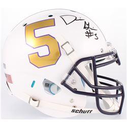 Derrius Guice Signed LSU Tigers Full-Size On-Field Helmet (Radtke Hologram)