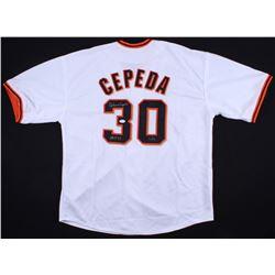 """Orlando Cepeda Signed Jersey Inscribed """"HOF 99"""" (JSA COA  Radtke Hologram)"""