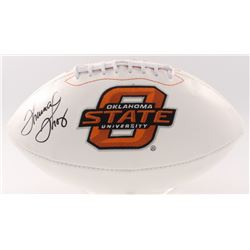 Thurman Thomas Signed Oklahoma State Logo Football (JSA COA)
