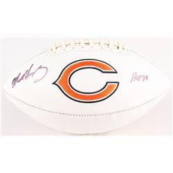 "Mike Singletary Signed Bears Logo Football Inscribed ""HOF 98"" (Radtke COA)"
