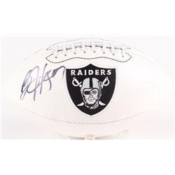 Bo Jackson Signed Raiders Logo Football (Radtke  Jackson Hologram)