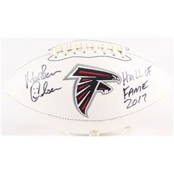 "Morten Andersen Signed Falcons Logo Football Inscribed ""Hall of Fame 2017"" (Radtke COA)"