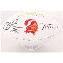 "Mike Alstott Signed Buccaneers Logo Football Inscribed ""A-TRAIN"" (Radtke COA)"