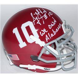 "A.J. McCarron Signed Alabama Crimson Tide Mini-Helmet Inscribed ""We Own Alabama"" (Radtke COA)"
