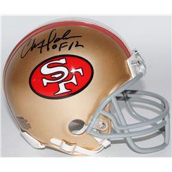 "Chris Doleman Signed 49ers Mini-Helmet Inscribed ""HOF 12"" (Radtke COA)"