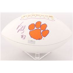 Vic Beasley Signed Clemson Tigers Logo Football (Radtke COA)