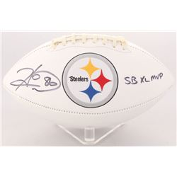 "Hines Ward Signed Steelers Logo Football Inscribed ""SB XL MVP"" (Radtke COA)"