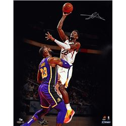 "Deandre Ayton Signed Suns ""Over LeBron"" 16x20 LE Photo (Game Day Legends COA  Steiner COA)"