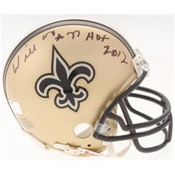 "Willie Roaf Signed Saints Mini Helmet Inscribed ""HOF 2012"" (Radtke COA)"
