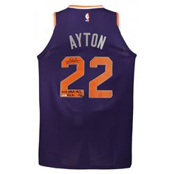"Deandre Ayton Signed LE Suns Nike Authentic Jersey Inscribed ""2018 NBA #1 Pick"" (Game Day Legends CO"