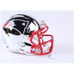 Josh Gordon Signed Patriots Chrome Speed Mini-Helmet (JSA COA)