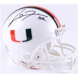 Ray Lewis Signed Miami Hurricanes Mini-Helmet (JSA COA)