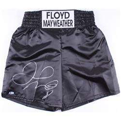 "Floyd Mayweather Jr. Signed ""Floyd Mayweather"" Boxing Trunks (Beckett COA)"