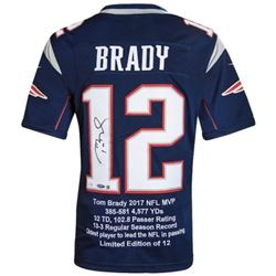 Tom Brady Signed LE Patriots Career Highlight Stat Jersey (Steiner COA  Tristar Hologram)