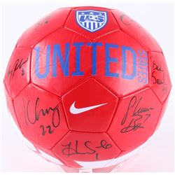 2015 Team USA Women's Soccer Nike Soccer Ball Team-Signed by (9) with Carli Lloyd, Hope Solo, Morgan