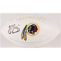John Riggins Signed Redskins Logo Football (JSA COA)