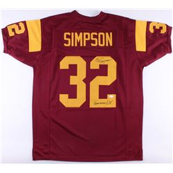 "O.J. Simpson Signed Jersey Inscribed ""Heisman 68'"" (JSA COA)"