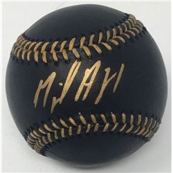 Miguel Andujar Signed OML Black Leather Baseball (Steiner COA)